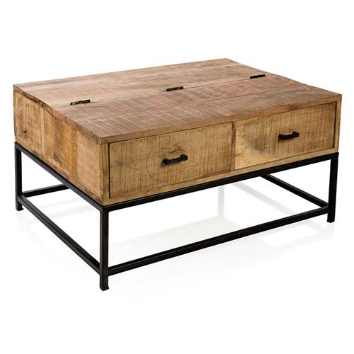 Brooklyn 2 Drawer Flip Top Coffee Table Mango Metal Wedding Gift Registry Easy Weddings