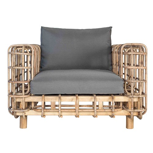 kenya rattan armchair charcoal outdoor furniture