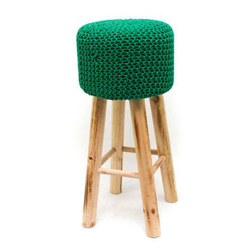 Knitted stool dark green wedding gift registry easy weddings