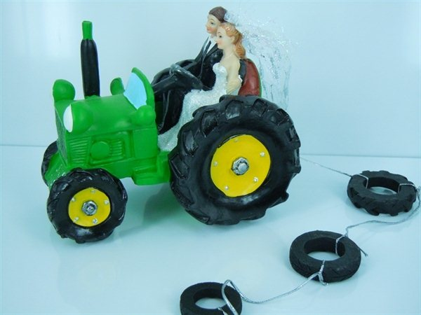blue tractor wedding cake topper tractor wedding cake topper 12009