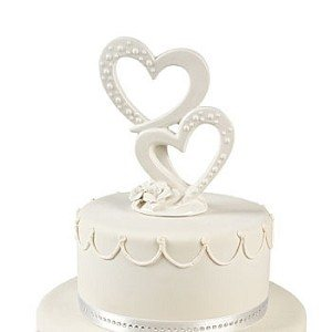 double heart wedding cake toppers ivory wedding cake topper 13707
