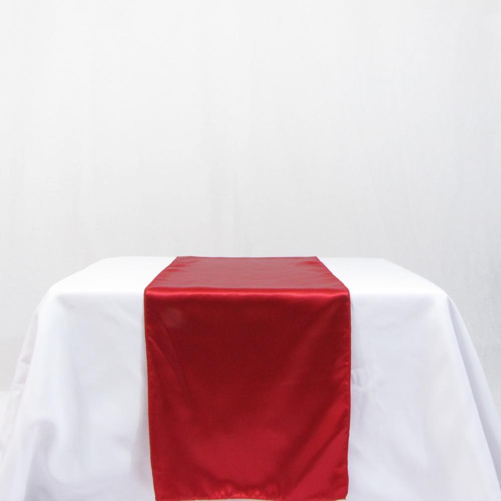 Red satin wedding table runner for Table runner