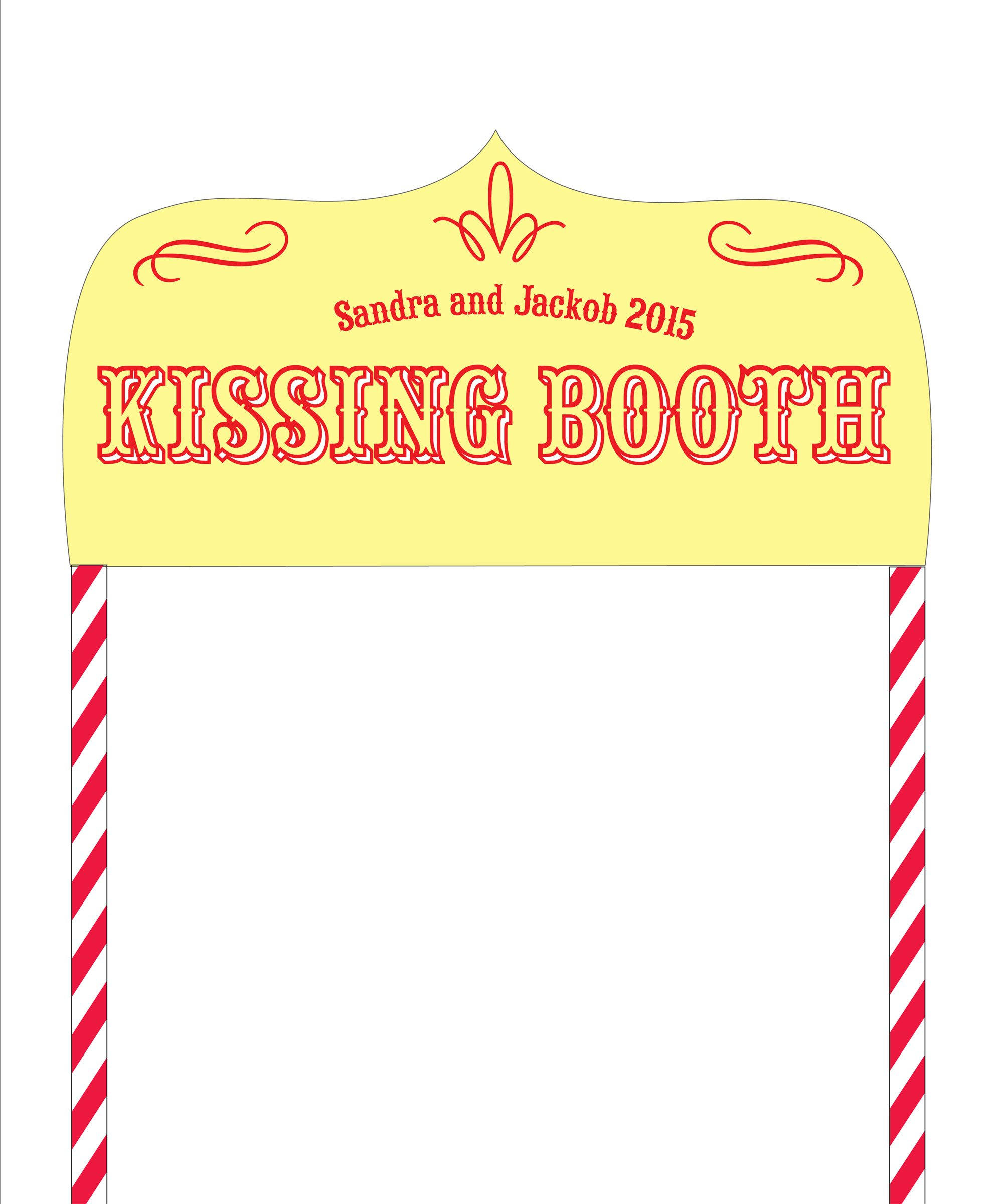 shop product kissing booth personalised photo backdrop